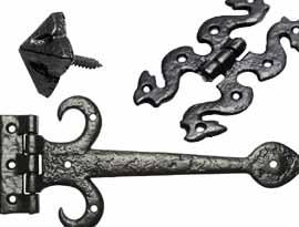 Black Antique Hinges & Door Studs