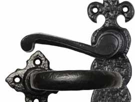 Black Antique Lever Door Handles