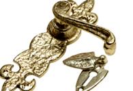 Antique Brass Door Handles & Escutcheons