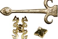 Antique Brass Hinges & Door Studs