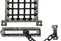 Black Antique Door Grilles & Chains
