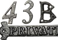 Black Antique Numerals & Letters