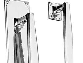 Chrome Art Deco Pull Handles