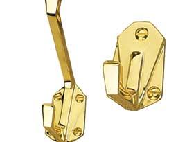 Brass Art Deco Hooks