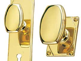 Brass Art Deco Knobs