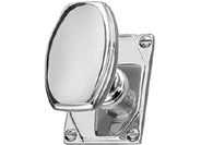 Chrome Art Deco Knobs