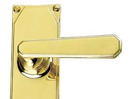 Brass Art Deco Lever Handles