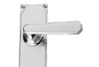 Chrome Art Deco Lever Handles