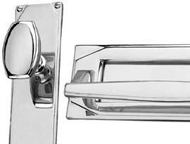 Period Style Polished Chrome Art Deco