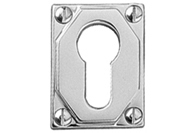 Chrome Art Deco Escutcheons