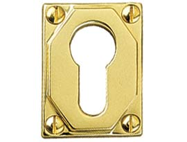 Brass Art Deco Escutcheons