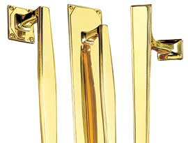 Brass Art Deco Pull Handles