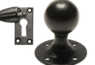 Black Iron Knobs & Escutcheons