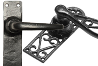 Black Iron Lever Handles