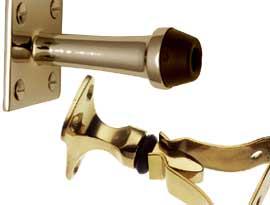 Brass Door Stops Holders and Brackets
