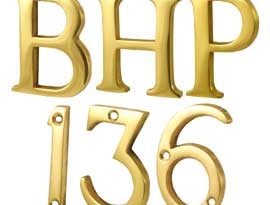 Brass Numerals Letters and Signs