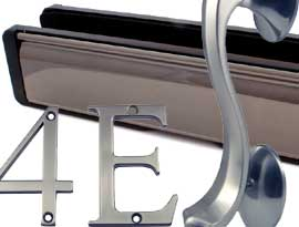 Bronze & Graphite UPVC and Multipoint Front Door Accessories