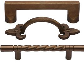 Rustic Bronze Cabinet Handles