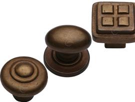 Rustic Bronze Cabinet Knobs