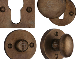 Rustic Bronze Escutcheons and Turns