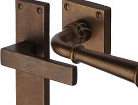 Rustic Bronze Lever Door Handles