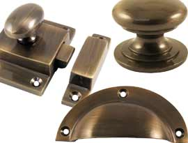 Antique Coated Brass Cabinet Fittings