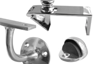 Polished Chrome Door Stops Holders and Brackets