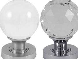 Glass Mortice Door Knobs