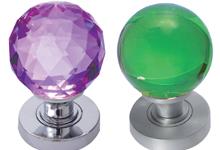 Coloured Glass Mortice Door Knobs