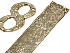 Antique Brass Finger Plates & Numerals