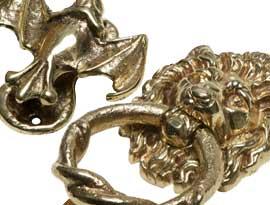 Antique Brass Door & Bedroom Knockers