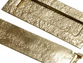 Antique Brass Letter Plates & Tidies