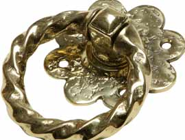 Antique Brass Ring Handles