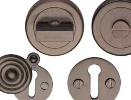 Imitation Matt Bronze Finish Escutcheons & Turns