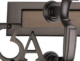 Imitation Matt Bronze Front Door Accessories