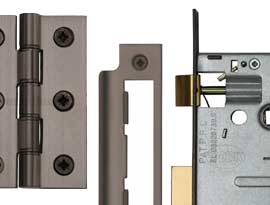 Imitation Matt Bronze Finish Locks, Latches & Hinges