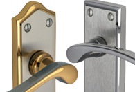 Mixed Finish Lever Handles