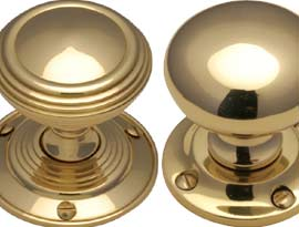 Brass Mortice Door Knobs