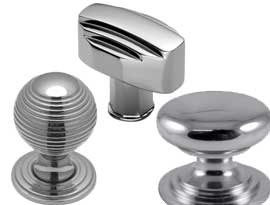 Polished Chrome Cabinet Knobs