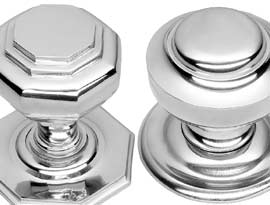 Polished Chrome Centre Door Knobs