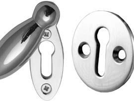 Polished Chrome Escutcheons