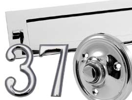Polished Chrome Front Door Furniture