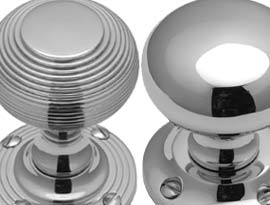 Polished Chrome Mortice Door Knobs
