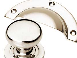 Polished Nickel Finish Cabinet Handles