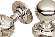 Polished Nickel Finish Mortice Door Knobs