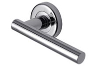 Polished Chrome Sorrento Lever on Rose Handles