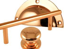 Rose Copper Cabinet Handles