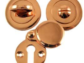 Rose Copper Escutcheons & Turns
