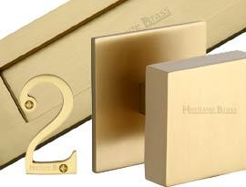 Satin Brass Front Door Furniture