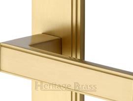 Satin Brass Lever Door Handles